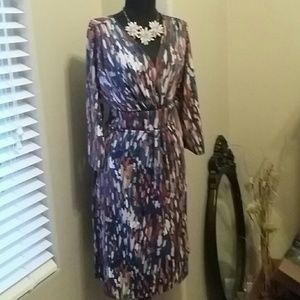 Mock wrap dress